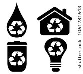 recycle symbol icons set  | Shutterstock .eps vector #1061281643