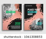 collection of covers with brush ... | Shutterstock .eps vector #1061308853