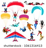 skydiving amd extreme sports... | Shutterstock .eps vector #1061316413