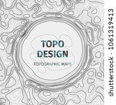 topographic map background with ... | Shutterstock .eps vector #1061319413