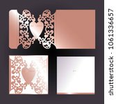 rose gold cutout envelope with...   Shutterstock .eps vector #1061336657