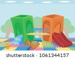 illustration of an indoor... | Shutterstock .eps vector #1061344157