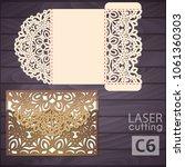 die laser cut wedding... | Shutterstock .eps vector #1061360303