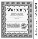 grey warranty certificate... | Shutterstock .eps vector #1061364863
