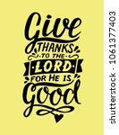 hand lettering give thanks to... | Shutterstock .eps vector #1061377403