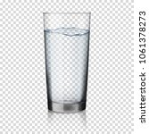 glass with water  isolated. | Shutterstock .eps vector #1061378273