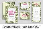 wedding invitation card suite... | Shutterstock .eps vector #1061386157
