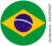 brazil flag with official... | Shutterstock .eps vector #1061395607