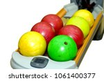 isolated bowling ball on... | Shutterstock . vector #1061400377