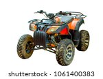 isolated atv vehicle with white ... | Shutterstock . vector #1061400383