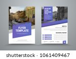 design of a vector brochure... | Shutterstock .eps vector #1061409467