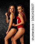 young slim sexy girls in body...   Shutterstock . vector #1061423837