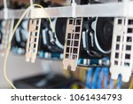 cryptocurrency mining rack with ...   Shutterstock . vector #1061434793