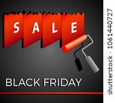 black friday   sale banner with ... | Shutterstock .eps vector #1061440727