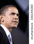 Us Senator Barack Obama At...