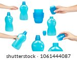 set of plastic bottles for... | Shutterstock . vector #1061444087