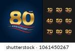set of anniversary logotype.... | Shutterstock .eps vector #1061450267