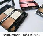 set of decorative cosmetics on...   Shutterstock . vector #1061458973