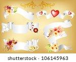 vector set of five scrolls... | Shutterstock .eps vector #106145963