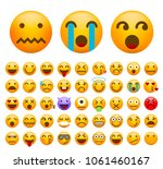 set of cute emoticons on white... | Shutterstock .eps vector #1061460167