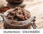 jar with handmade natural body...   Shutterstock . vector #1061466803