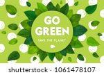 ecology theme happy earth day... | Shutterstock .eps vector #1061478107