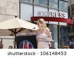 los angeles   aug 6  michelle... | Shutterstock . vector #106148453