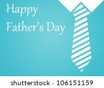 Happy fathers day written blue background. - stock photo