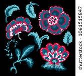 decorative beautiful flowers... | Shutterstock .eps vector #1061515847
