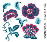 decorative beautiful flowers... | Shutterstock .eps vector #1061515853