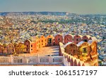 view of jaipur city from... | Shutterstock . vector #1061517197