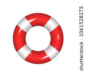 life buoy isolated on a white... | Shutterstock .eps vector #1061528273