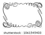 flourish vector frame.... | Shutterstock .eps vector #1061545403