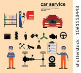 auto maintenance services icons ... | Shutterstock .eps vector #1061553443