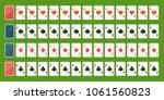 set poker playing cards  full...   Shutterstock .eps vector #1061560823
