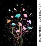 flowers arrangement with petals ... | Shutterstock .eps vector #1061567477
