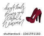 high heels bring you closer to... | Shutterstock .eps vector #1061591183