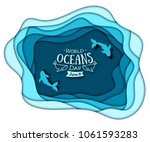 paper art concept of world... | Shutterstock .eps vector #1061593283
