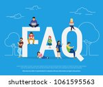 frequently asked questions...   Shutterstock .eps vector #1061595563