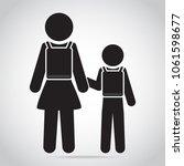 boy and girl go to school icon. ...   Shutterstock .eps vector #1061598677