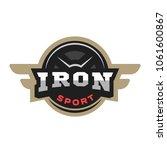 iron sport logo  emblem. | Shutterstock .eps vector #1061600867