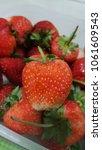 Small photo of fress strawberries slice