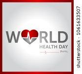 7 april world health day... | Shutterstock .eps vector #1061633507