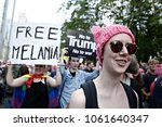 activists protest against... | Shutterstock . vector #1061640347