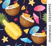 summer seamless cocktail... | Shutterstock .eps vector #1061644943