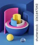 3d render  abstract geometric...   Shutterstock . vector #1061647043