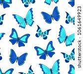 blue butterflies on white... | Shutterstock .eps vector #1061649923
