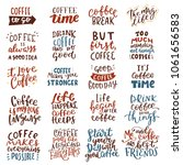 coffee lettering quote... | Shutterstock .eps vector #1061656583