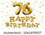 vector happy birthday 76th... | Shutterstock .eps vector #1061659037