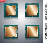processor  computer brain ...   Shutterstock .eps vector #1061665283